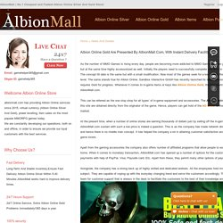 Albion Online Gold Are Presented By AlbionMall.Com, With Instant Delivery Facility - albionmall.com