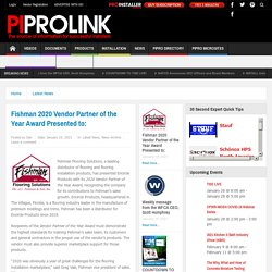 Fishman 2020 Vendor Partner of the Year Award Presented to: - ProInstaller Magazine