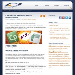Adobe Presenter Captivate Difference eLearning Online