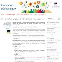 Un « carnet de bord » pour présenter et valoriser ses compétences - Innovation Pédagogique