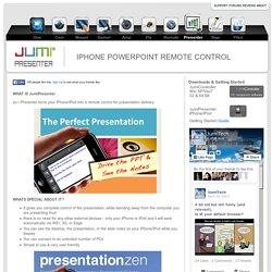 Jumi-Presenter, iPHONE POWERPOINT REMOTE CONTROL