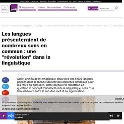 """Les langues présenteraient de nombreux sons en commun : une """"révolution"""" dans la linguistique"""