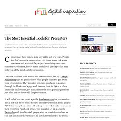 Most Essential Tools for Presenters and Conference Organizers
