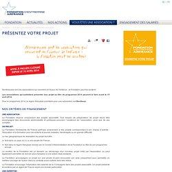 Présentez votre projet : Air France - Fondation