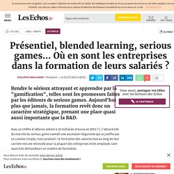 Présentiel, blended learning, serious games… Où en sont les entreprises dans la formation de leurs salariés ?, Le Cercle
