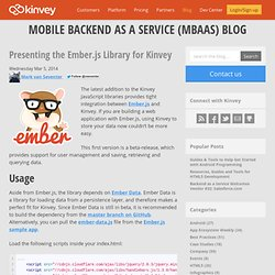 Presenting the Ember.js Library for Kinvey