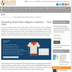 Presenting Brand New Magento Extension – 'Size Chart'