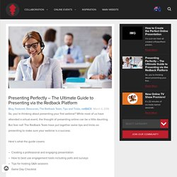 Presenting Perfectly – The Ultimate Guide to Presenting via the Redback Platform