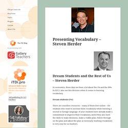 Presenting Vocabulary - Steven Herder - iTDi Blog