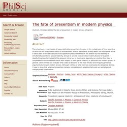 The fate of presentism in modern physics