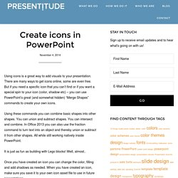 Create icons in PowerPoint - Presentitude - a presentation and content design agency -