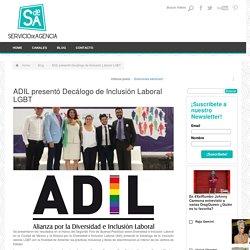 ADIL presentó Decálogo de Inclusión Laboral LGBT - Servicio de Agencia