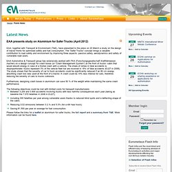EAA presents study on Aluminium for Safer Trucks (April 2012) > Eurometaux