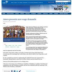 Amcu presents new wage demands:Wednesday 18 June 2014