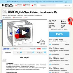 dood presents DOM: Digital Object Maker