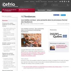 Les médias sociaux : plus présents dans le processus d'achat des Québécois