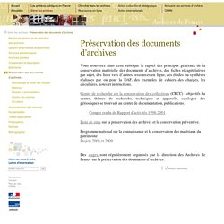 [FR] Archives - conservation (MCC - DAF)