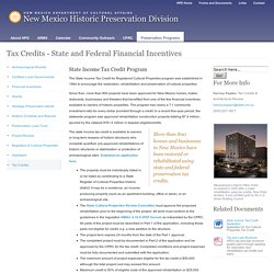 Tax Credits - State and Federal Financial Incentives