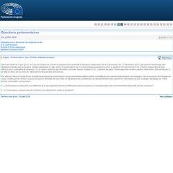 PARLEMENT EUROPEEN - Réponse à question E-005417-16 Préservation des oliviers méditerranéens