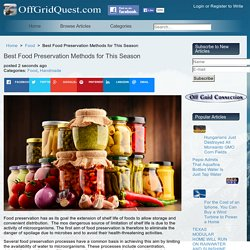 Best Food Preservation Methods for This Season