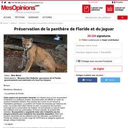 Préservation de la panthère de Floride et du jaguar