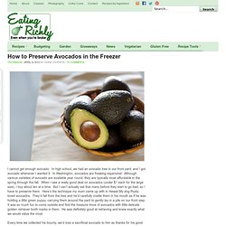 How to Preserve Avocados