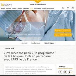 « Préserve ma peau », le programme de formation de la Clinique Conti en partenariat avec l'ARS Ile de France - Elsan