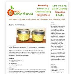 Food Preserving: Butter & Buttermilk
