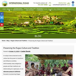 Preserving the Ifugao Culture and Tradition
