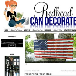 Preserving Fresh Basil - Redhead Can DecorateRedhead Can Decorate