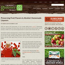 Preserving Fruit Flavors in Alcohol: Homemade Liqueurs | Growing A Greener World - StumbleUpon