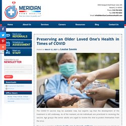 Preserving an Older Loved One's Health in Times of COVID