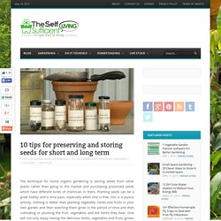 10 tips for preserving and storing seeds for short and long term