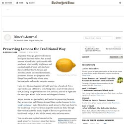 Preserving Lemons the Traditional Way