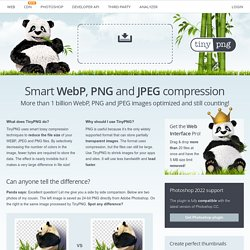 TinyPNG – Compress PNG images while preserving alpha transparency