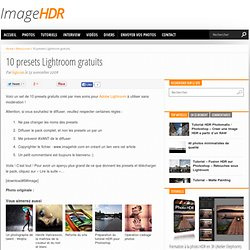 10 presets Lightroom gratuits