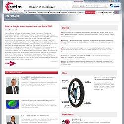 Fabrice Brégier prend la présidence de Pacte PME. - Cetim