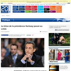 Le bilan de la présidence Sarkozy passé au crible
