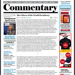 « The Citizen of the World Presidency Commentary Magazine
