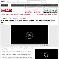 05/12/2013 Décès de Nelson Mandela