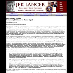 JFK Lancer - President John F. Kennedy Assassination Latest News and Research