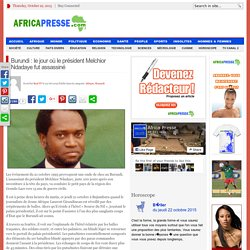 Burundi : le jour où le président Melchior Ndadaye fut assassiné