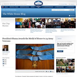 President Obama Awards the Medal of Honor to 24 Army Veterans