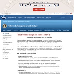 ThePresident'sBudget forFiscal Year 2013