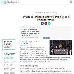 President Donald Trump's Economic Plan