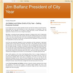 Jim Balfanz President of City Year: Jim Balfanz and Gillian Smith of City Year – Getting Everyone Involved