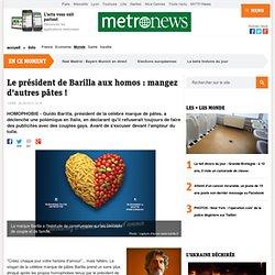 Italie : le président de Barilla conseille aux homosexuels de manger d'autres pâtes