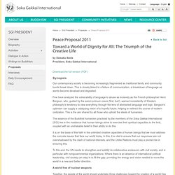 Proposition de la paix 2011