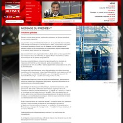 Mot du president Mohed Altrad - Location echafaudage - Vente materiel BTP - Altrad