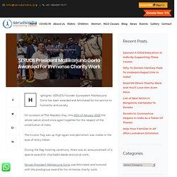 SERUDS President Mallikarjuna Gorla Awarded For Immense Charity Work